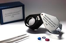 High-quality achromatic aplanatic lens 10X Triplet  LED/UV gems loupe (21mm) NEW