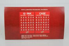 Original Schlitz Beer Priceboard 12 Pak Case Dealer Advertising Card Old Stock