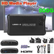 500G USB 3.0 Full HD 1080P Media Player Audio Video HDD HDMI AV Box HUB TV DVD