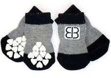 New Petego Traction Control Indoor Non-Skid Dog Socks Black/Grey Small Dog Socks