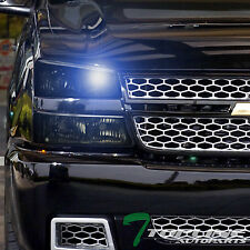 Topline For 2003-2007 Chevy Silverado 8000k HID Xenon Smoke Headlights Bumper