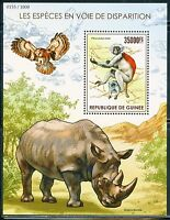 GUINEA 2015 ENDANGERED SPECIES  SHEET MINT NEVER HINGED
