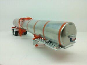 1/64 DCP Orange & Silver 48' Tandem Axle Chemical Tanker Trailer