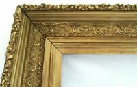 BIG ANTIQUE FITS 16.7 X 20.6 GOLD PICTURE FRAME ORNATE WOOD FINE ART COUNTRY