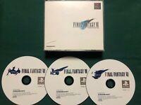 Final Fantasy VII 7 Playstation PS1 Japan import Game! No Manual - US Seller!
