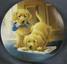 Retrieving Our Dignity Collector Plate It's A Dog's Life Lynn Kaatz Dog Puppy