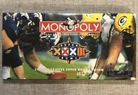 Rare Vintage MONOPOLY Superbowl XXXII Edition 1998 Parker Brothers, NEW & Sealed