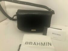 Brahmin Black Leather Lil Topsail 3 in 1 Convertible Handbag NWT