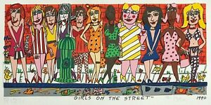 """James Rizzi """"GIRLS ON THE STREET"""" 3D-Konstr. v.1990, handsigniert + numeriert"""