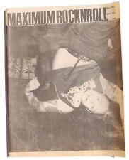 Vtg October 1991 Maximum Rock N Roll Punk Rock Music Zine Magazine No. 101