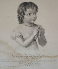 BOSSELMAN (1825), Porträt d. Prinzessin Louise d'Artois, um 1825, Kupferst.