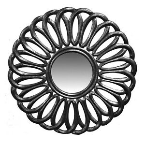 """Wall Mirror Wooden Frame Silver 23.5""""-Decorative Wall Decor -Wall Mirror -Accent"""
