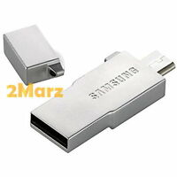 Samsung Metal OTG USB Card Reader + 64GB 64G EVO UHS-I Micro SDHC SD Card Silver