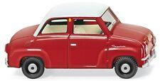 Wiking 1/87: 018402 vetro Goggomobil-Rosso/Bianco