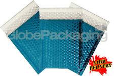 200 X brillante metalizado brillo Lámina De Burbuja Bolsas Acolchadas Sobres Azul 180x250mm D/1
