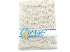 Cellular Cotton Pram Blanket 75 cm x 100 cm Color Cream 215