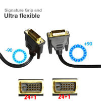 New 6FT 10FT 15FT 25FT Ultra-HD 1080P Gold Plated DVI-D 24+1 Cable Cord Lot