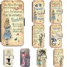Alice In Wonderland The Mad Hatter Wallet Flip Phone Case Cover iPhone Samsung