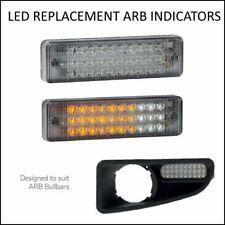 2 X LED BULL BAR FRONT PARKER INDICATOR LIGHTS PARK LAMP - FITS MOST ARB BARS