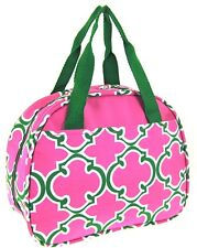 School Lunch Tote Bag Pink & Green  SCHOOL Lunch Box  Backpack Campus   Bag