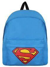 DC COMICS SUPERMAN LOGO BLUE BOYS GIRLS SCHOOL BACKPACK RUCKSACK BAG