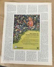 Harrison car air conditioning ad 1967 vintage print 1960s retro ad illus flowers