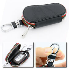 Universal Car Remote Zipper Key Holder Bags Cases Cover Chain Smart PU Leather