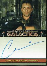 BATTLESTAR GALACTICA PREMIERE EDITION AUTOGRAPH CARD CALLUM KEITH RENNIE