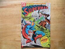 1977 VINTAGE SUPERMAN # 310 SIGNED 2X JOSE GARCIA-LOPEZ & MARTY PASKO, WITH POA