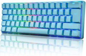 60% Mechanische Gaming Tastatur Typ C verkabelt 61 Tasten RGB LED USB für PC PS4