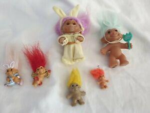 Vintage Troll Doll Lot Easter 1989 Brooch Bundle Toys