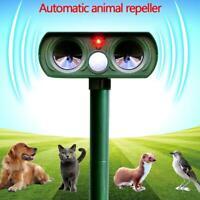 Solar Power Ultrasonic Pest Repeller Animal Driver Garden Cat Dog Scarer-Control