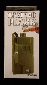Tanked Flask. Army Tank Shaped Flask. New in Box. Great Flask.