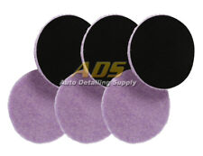 """Lake Country 5.5"""" x 1/4"""" """"Thin"""" Purple Foamed Wool Pad 6 Pack"""