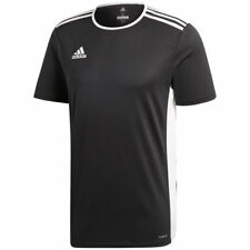 Adidas Entrada Boys Junior Kids Climalite Crew Sports Gym Football T Shirt Top