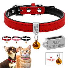 Hundehalsband mit Namen Personalisiert Hundemarke Katze Welpe Halsband Hundename