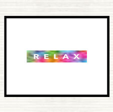 Dark Relax Rainbow Quote Dinner Table Placemat