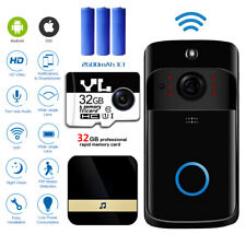 Wireless WiFi Video Doorbells Two-Way Smart Phone Door Ring Security Camera Bell