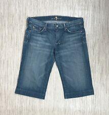7 For All Mankind Blue Denim Cotton Bermuda Shorts Women's 30 Dojo Made in USA