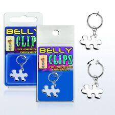 Test Bauchnabel Piercing Puzzle Fake Clip Damen Illusion Klemme Silber Ø 13mm