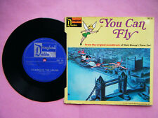 "DISNEYLAND DOUBLES 7"" vinyl YOU CAN FLY / FOLLOW THE LEADER  Peter Pan  1971"