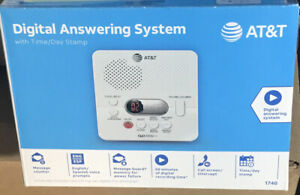 AT&T 1740 Digital Answering Machine System 60 Minutes Recording Time/Date NEW!!