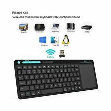 Rii K18 Wireless Keyboard With build-in Large Size Touchpad Mouse Rechargable...