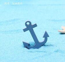 Mini Succulent Fairy Garden Figurines Aquarium 2X Wooden Boat Anchor
