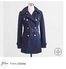 J CREW FACTORY Women's Navy Blue Classic Trench Coat $188 SZ 0