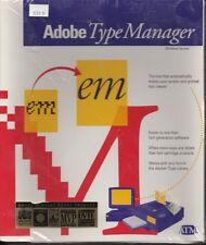 "Software Adobe Type Manager 1990 3.5"" and 5.25"" disks Sealed Vintage"