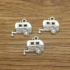 20 Camper Charms Trailer Caravan Charms Pendant Jewelry Antique Silver 19x17 679