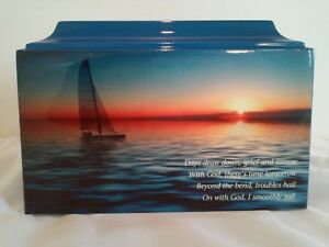 879  Sailing, Boating Memorial Funeral Adult Cremation Urn