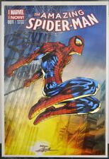 AMAZING SPIDER-MAN PRINT HAND SIGNED by Artist Neal Adams w COA