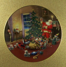 A Christmas Eve Visitor Classic American Santas Plate Collection George Hinke